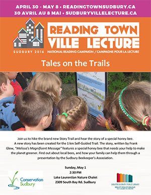 Poster Tales on the Trails - Conservation Sudbury, Sudbury Public Library