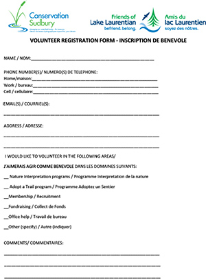CS FOLL volunteer form